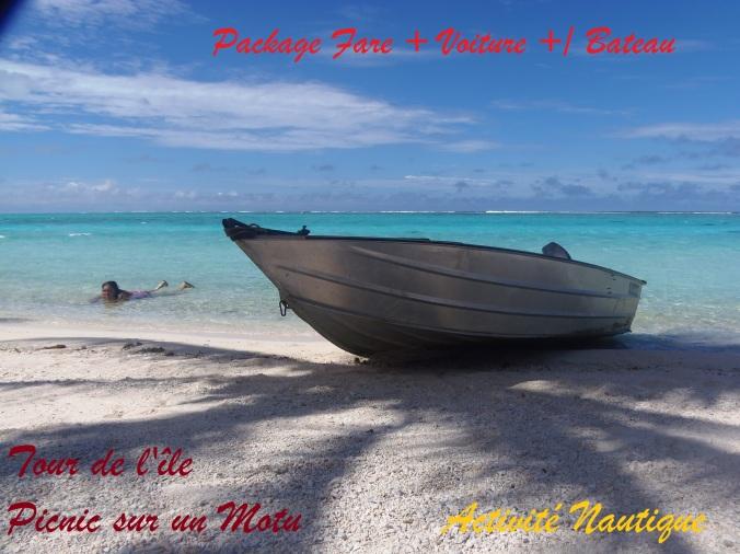 """Journée Bateau Arrêt au """"Motu AraAra"""" pour une belle journée picnic"""